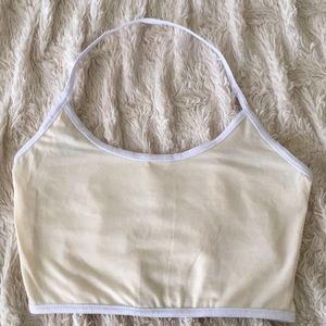 Tops - Cream colored crop top new without tags